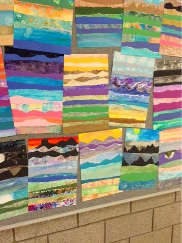 Art At Becker Middle School Impressionist Watercolor Landscapes