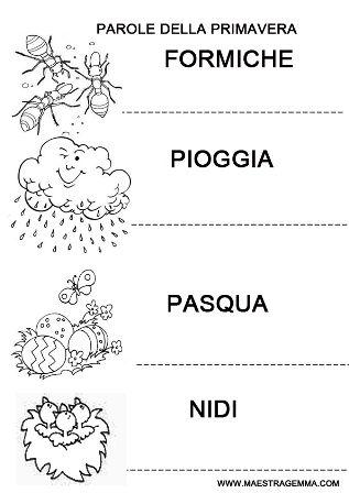 Schede didattiche primavera maestra gemma primavera for Lavoretti maestra gemma