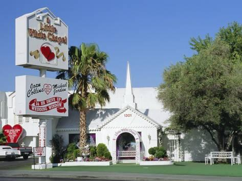 Photographic Print The Little White Chapel Las Vegas Poster By Fraser Hall 24x18in Little White Chapel Vegas Las Vegas