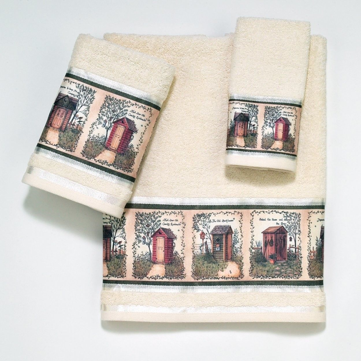 Outhouses 4 Piece Towel Set