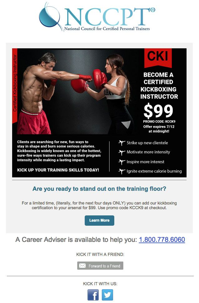 Limited Time Add Kickboxing To Your Training Arsenal For 99 Use Coupon Code Kcck9 Start Your Career Personal Trainer Website Kickboxing Trainer Tshirt