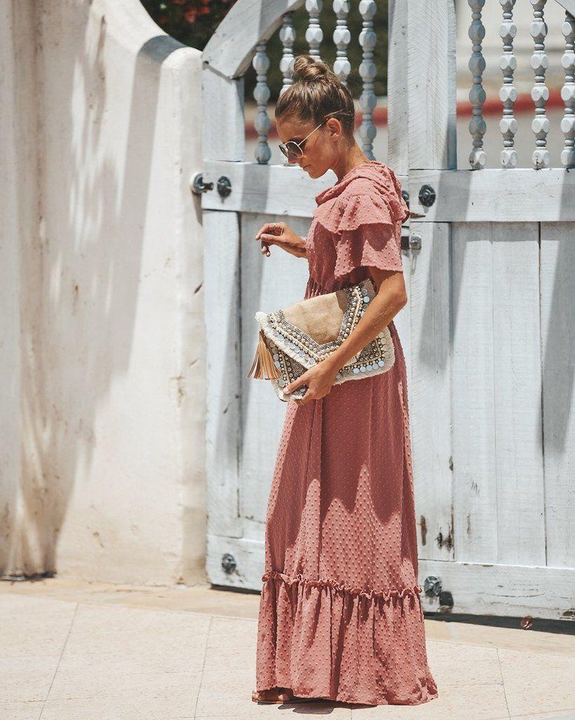 b4b977642da Simple Moments Swiss Dot Maxi Dress - Dusty Rose - FINAL in 2019 ...