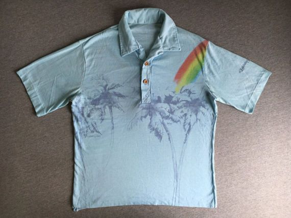 611ee8d7f6dc5 LIGHTNING BOLT SURF Shirt 80's Vintage/ Thrashed by sweetVTGtshirt ...