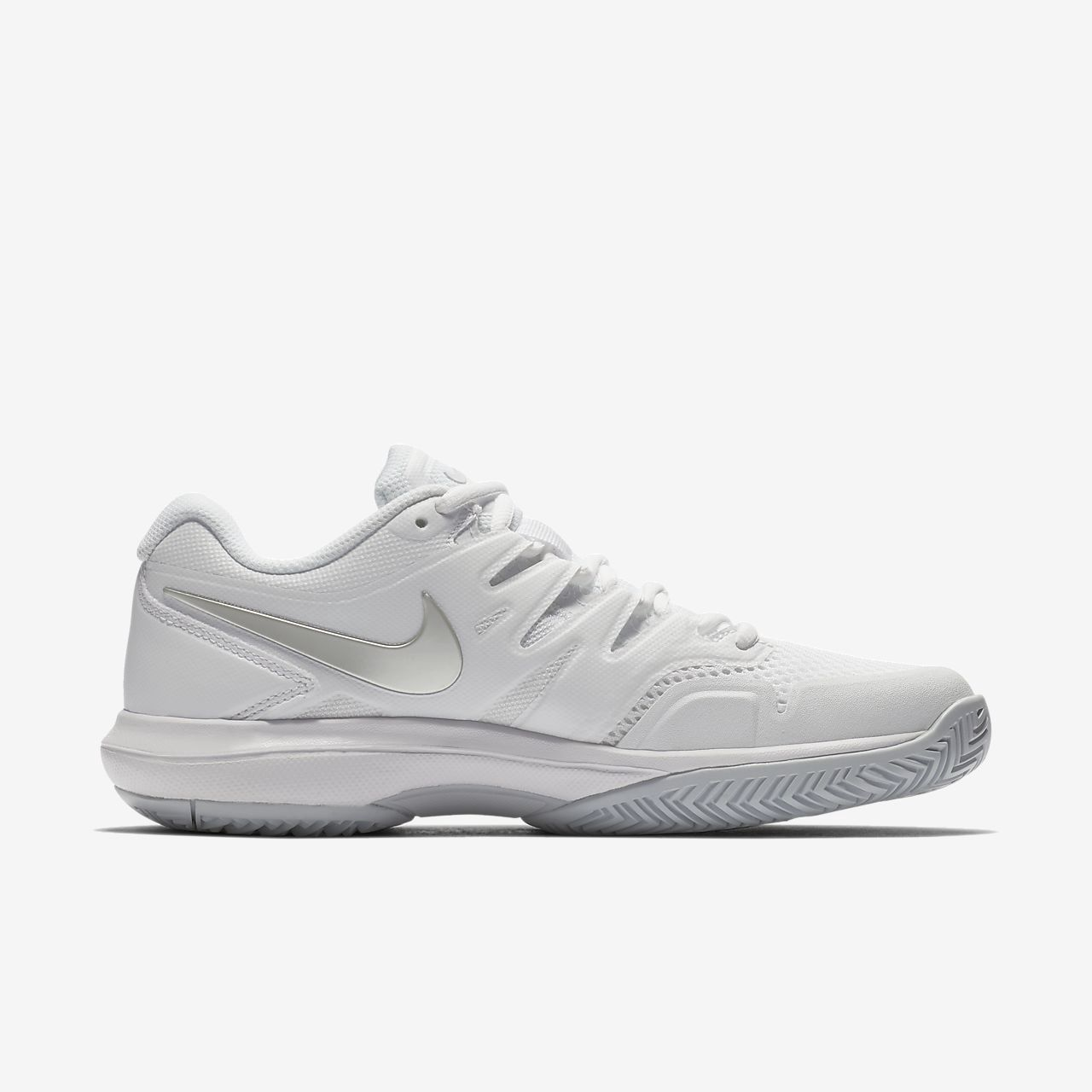 c26598f927b Nike Court Air Zoom Prestige Hard Women s Tennis Shoe - 5 Silver ...