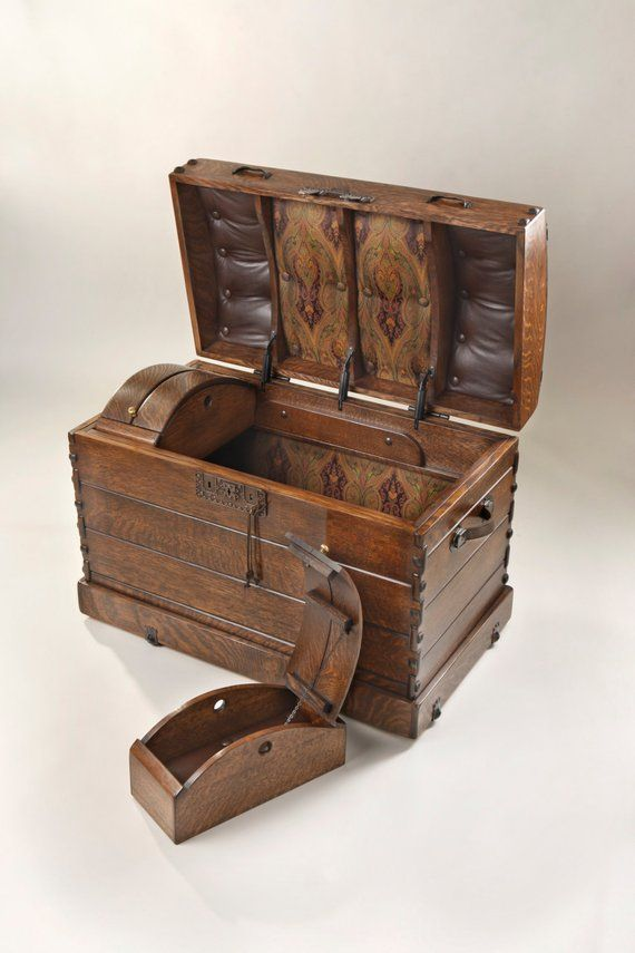Boxes/chests 100% Quality Old Steamer Trunk Antiques
