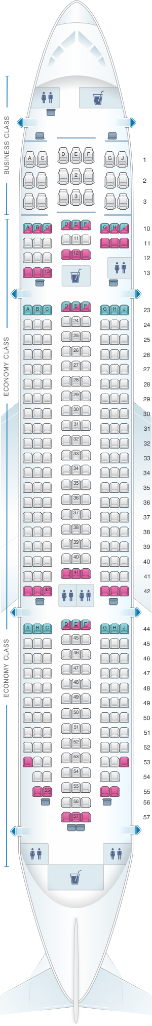 Seat Map Jetstar Airways Boeing 787 8 Dreamliner Seatmaestro Com