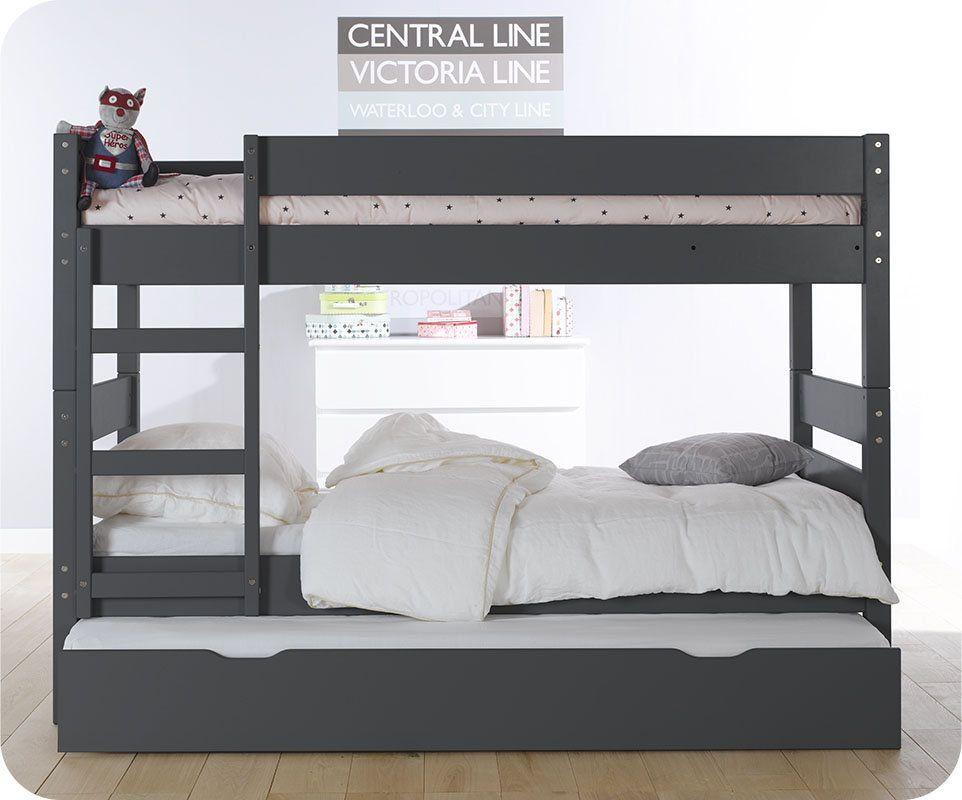89578f8f306e6 Le lit superposé idéal : hauteur réduite quand les enfants sont petits,  puis kit de réhausse pour augmenter l'écart et gagner en confort plus tard.