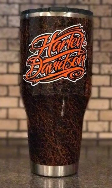 Quot Harley Davidson Quot Leather Effects 40 Oz Stainless Steel