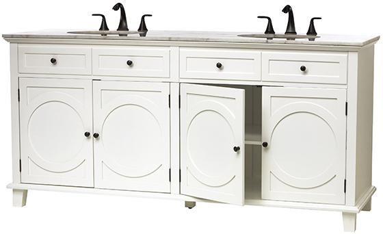 Hudson Double Bath Vanity - 6 ft long. $1299 | Marble ...
