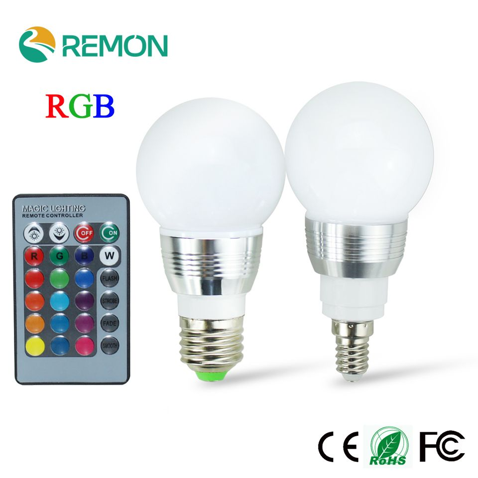 3w Rgb Led Bulb E27 85 265v Led Lamp E27 220v 110v Spotlight Lamparas Led Light Bulb E14 Spot Luz C Led Bulb Led Light Bulb Color Changing Light Bulb