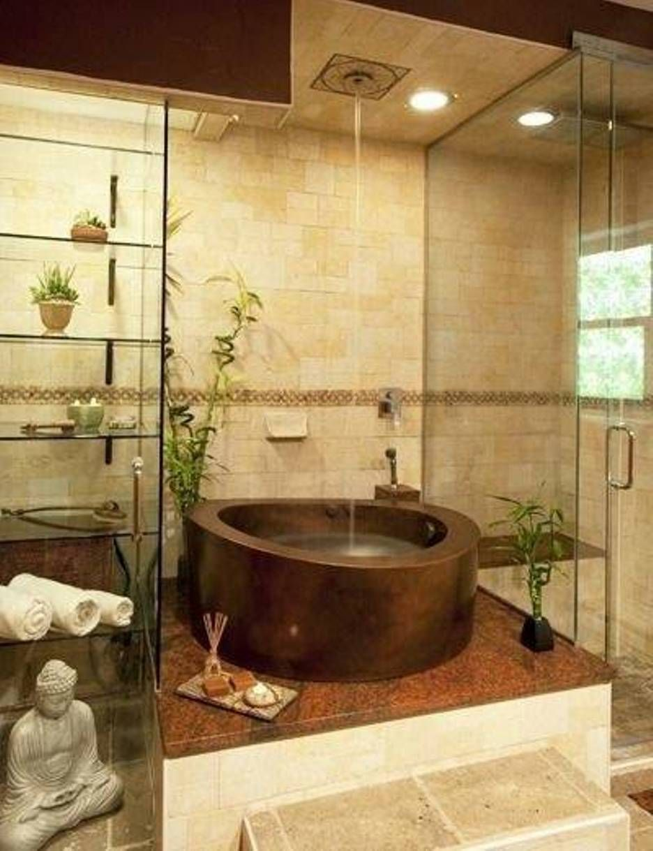 Zen Bathroom Is The Perfect Choice For The People Who Want To Reflect The Meditating Design Zen Bathroom Decor Japanese Bathroom Design Japanese Soaking Tubs