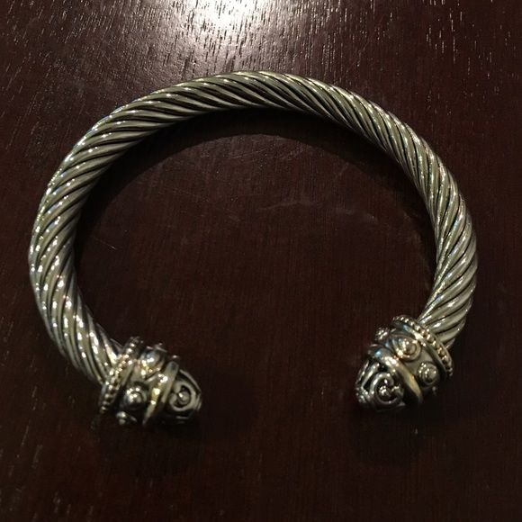 Silver Rope Bangle Trend alert!! This bangle is gorgeous and not lightweight. Worn once & I just haven't had another event or place to wear it. Offers welcome! ✨ Jewelry Bracelets