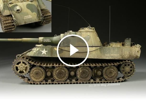 The Weathering Of German Panther II Prototype Tank     The Panther