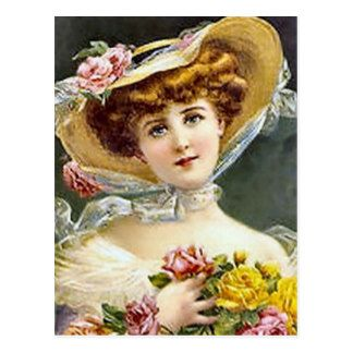 postcards Vintage lady photos