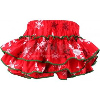 Baby Petti Bloomers Christmas Snowflakes