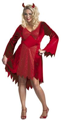 Special Offers Available Click Image Above: Plus Size Dazzling Devil Costume - Plus Size Costumes