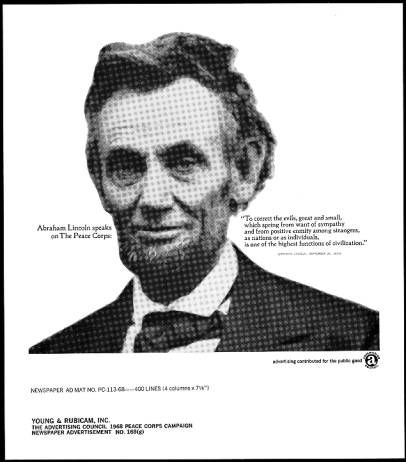 Abraham Lincoln Speaks On The Peace Corps 1960s Peace Corps