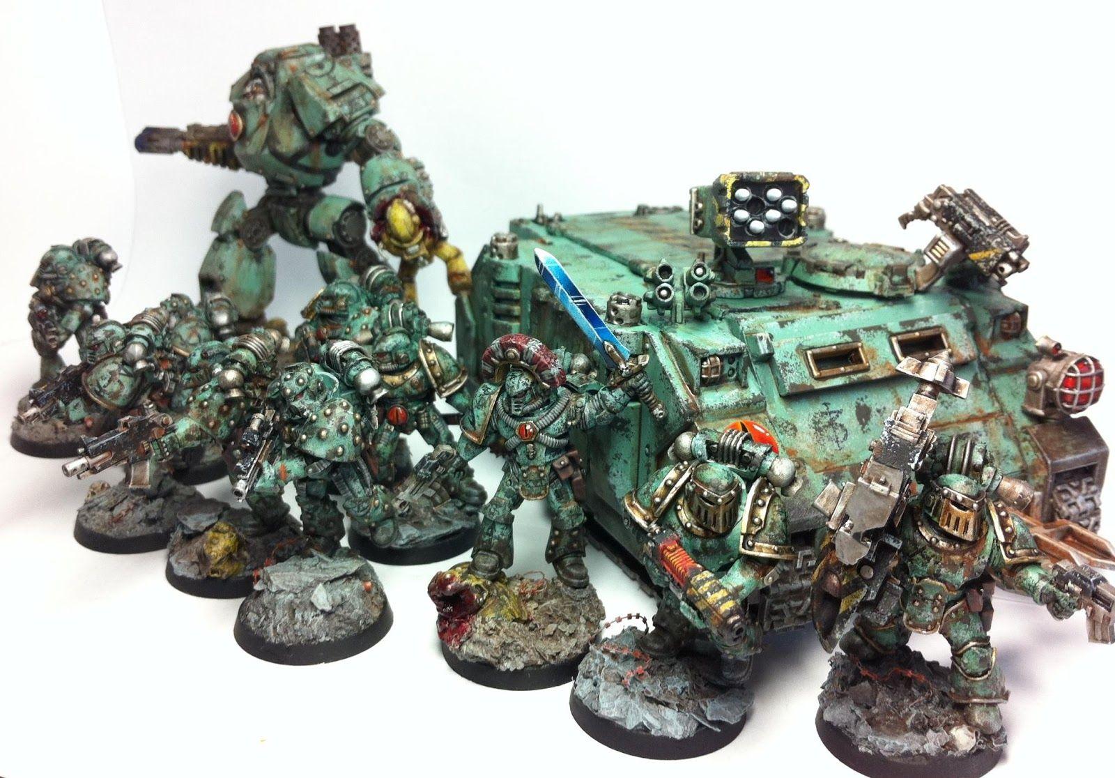 Terminus Est: Sons of Horus battle squad (by Sheep)