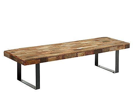metal + wood table