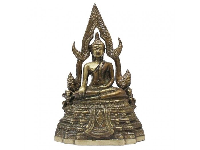 Buddha Statue in Meditation with Antic Finish Buy online from Vedic Vaani