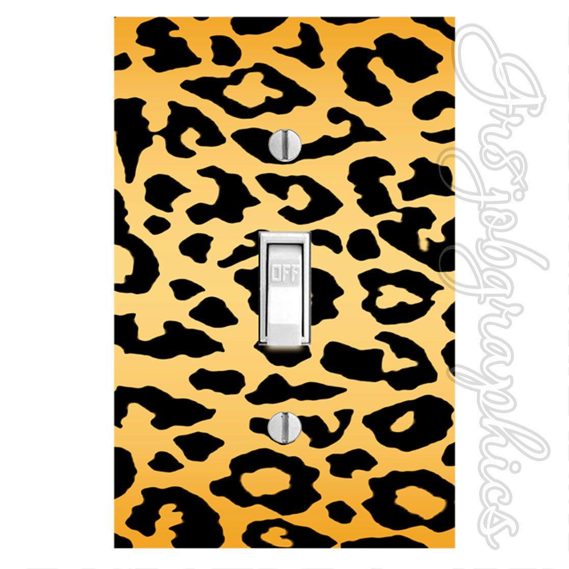Light Switch Cover Decal Cheetah Print Leopard Spots Sticker Girls Room Ls16 Light Switch Covers Pink Leopard Print Wall Stickers [ 1116 x 1116 Pixel ]