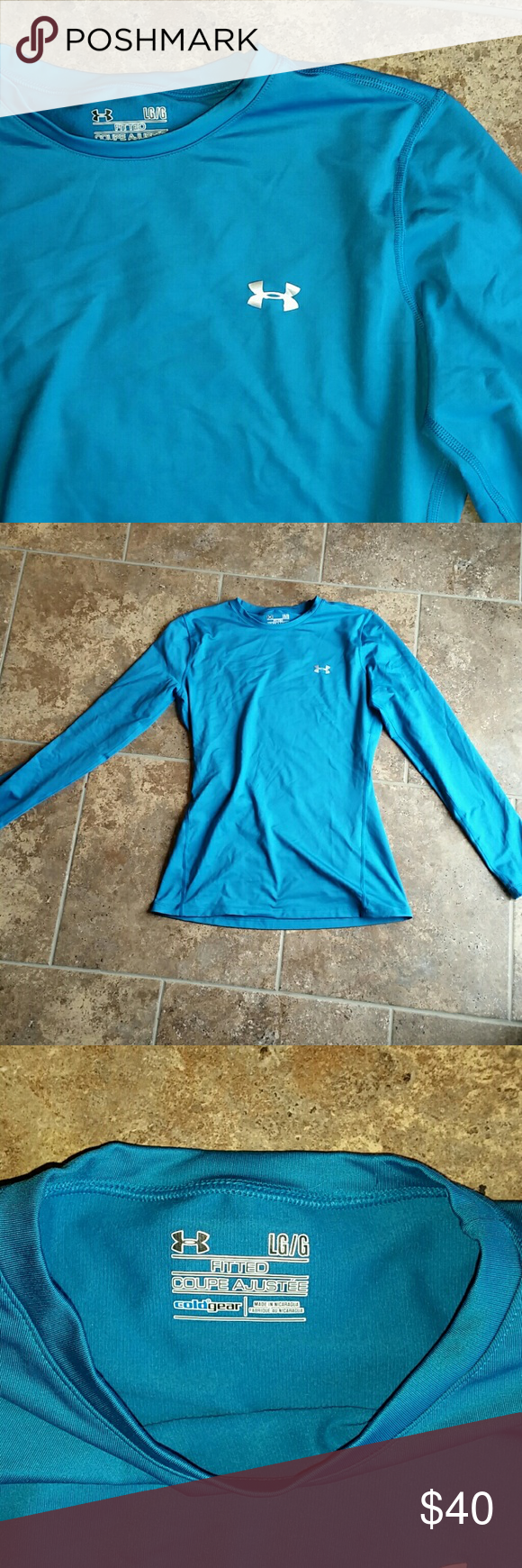 Womenus fitted coupe cold gear under armour shirt pinterest