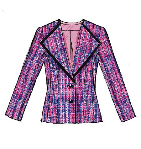M6655. Pink tartan wool from M and W