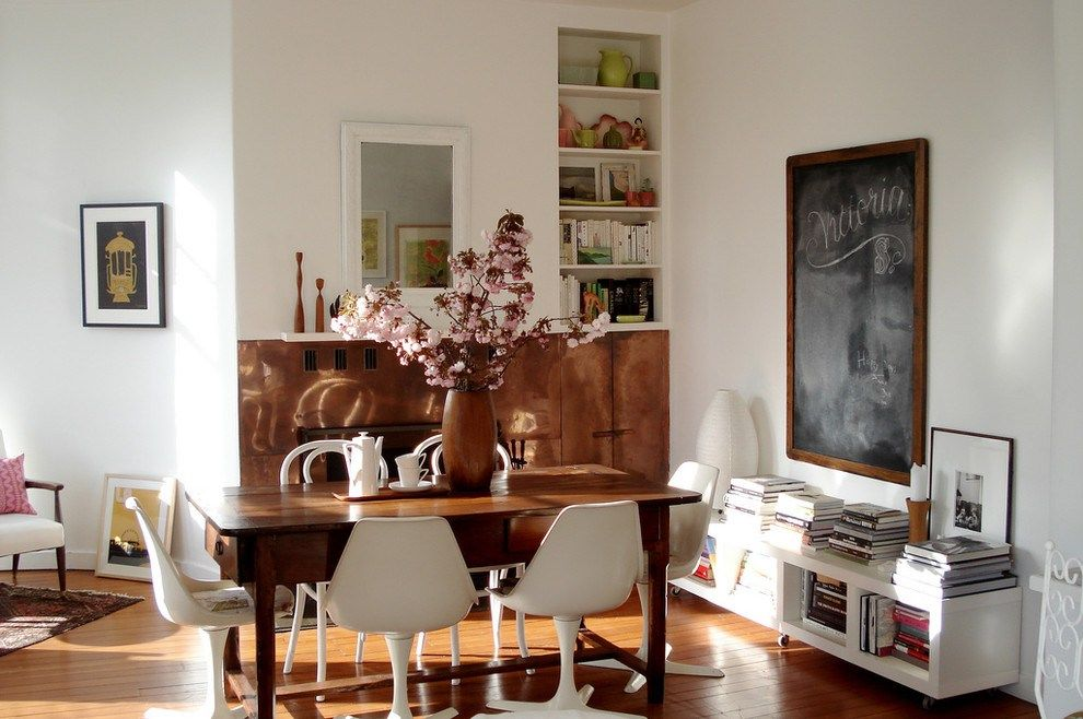 Antique White Dining Room Furniture With Eclectic Mid Century Modern