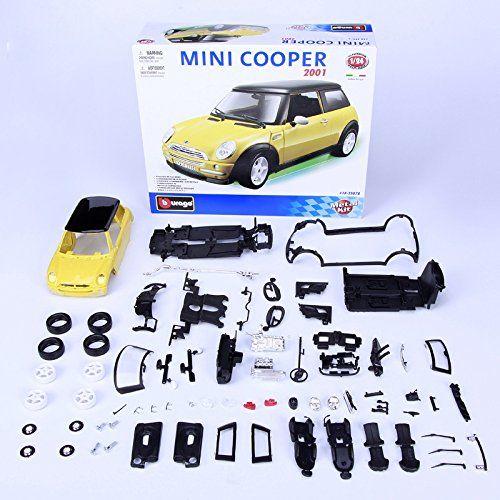 Model Building Kits Mini Cooper 2001 1 24 Assembly Model Alloy Toy