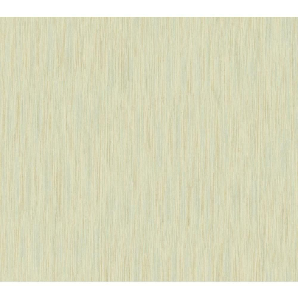 60.75 sq. ft. Shimmering Topaz Threaded Stria Wallpaper,