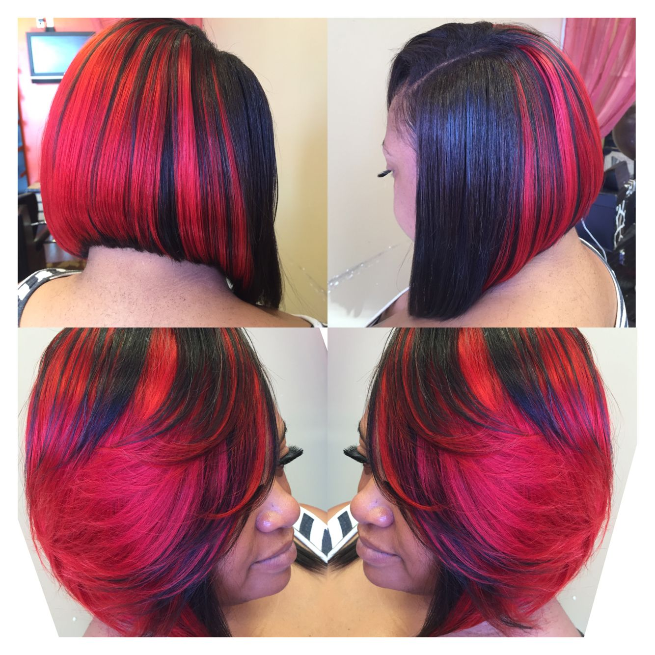 Red And Black Quickweave Bob Gorgeous Hair Short Hair Styles Hair Beauty