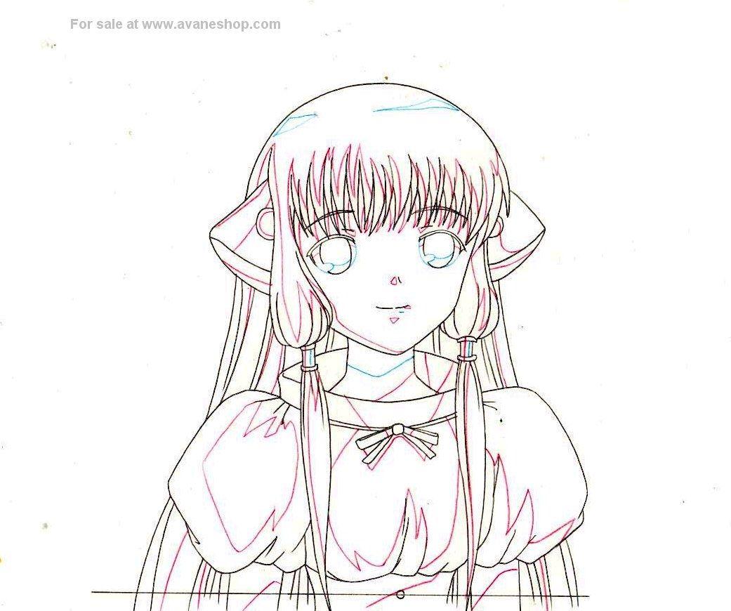 Chobits Anime Cel Sketch For Sale Anime Animation Cel Japanese Animation