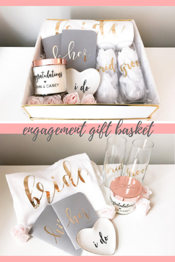 This Is Such A Great Gift Idea Engagement Gift Basket Bride To Be