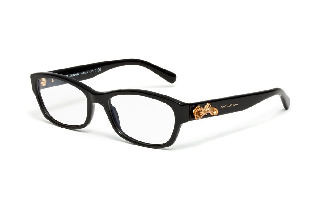 e6d91117f08 Dolce   Gabbana D Women Eyeglasses Barocco Collection - Square Frame in  Black
