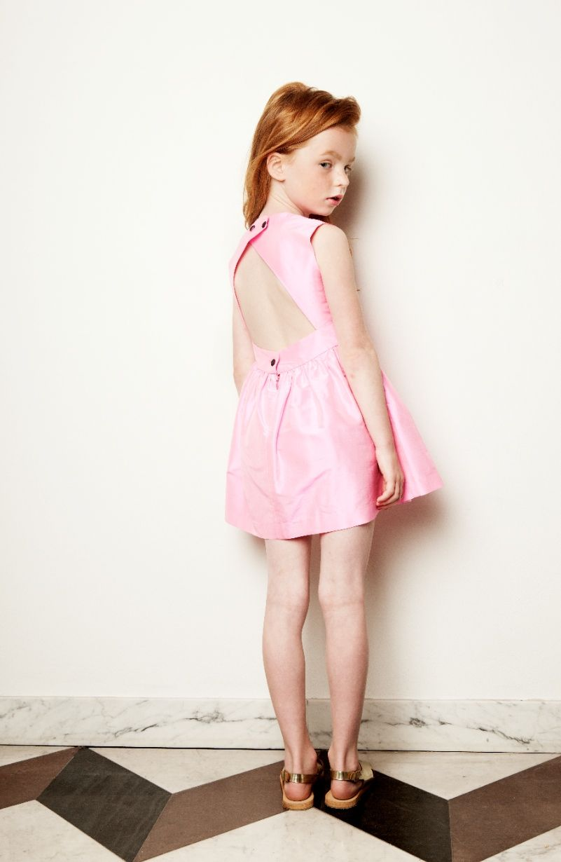 Silk structured party dress for little girls from My Little Dress Up spring  2015 79ea930e864