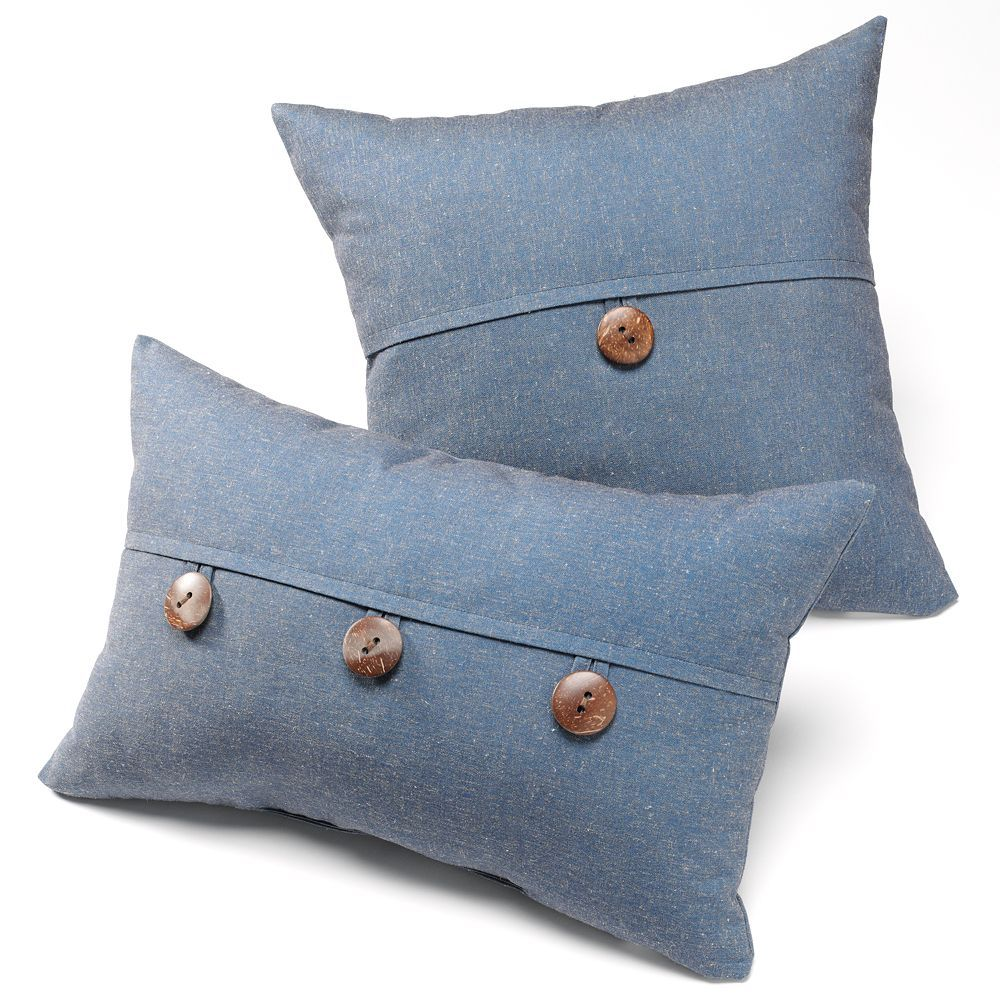 the lumbar pillow in linen color would