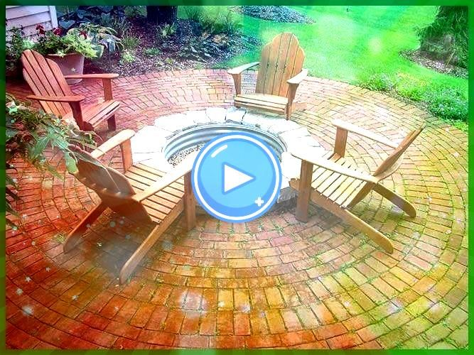 the brick patio but the fire pit needs to be brick or better stones Love the brick patio but the fire pit needs to be brick or better stonesLove the brick patio but the f...