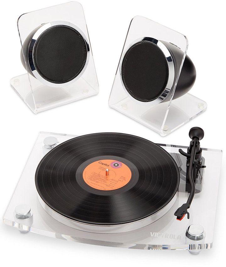 Innovative Technology Victrola Acrylic Bluetooth Record