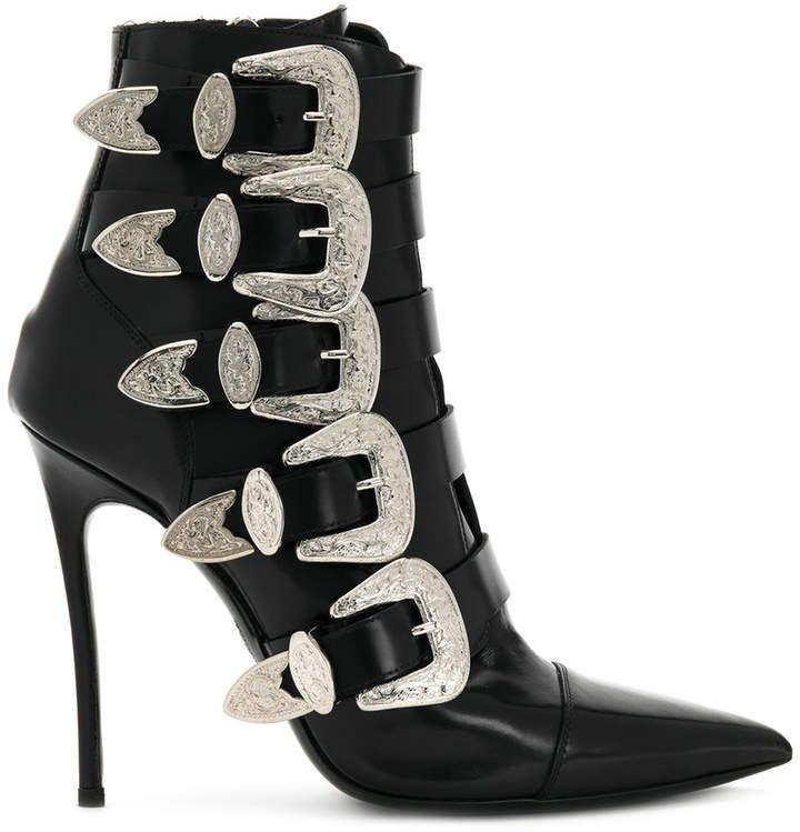 Dsquared2buckled heeled boots Le Plus Grand Fournisseur En Ligne Pas Cher Vente Footlocker La Sortie Exclusive classique Sortie D'usine O9PmNcB