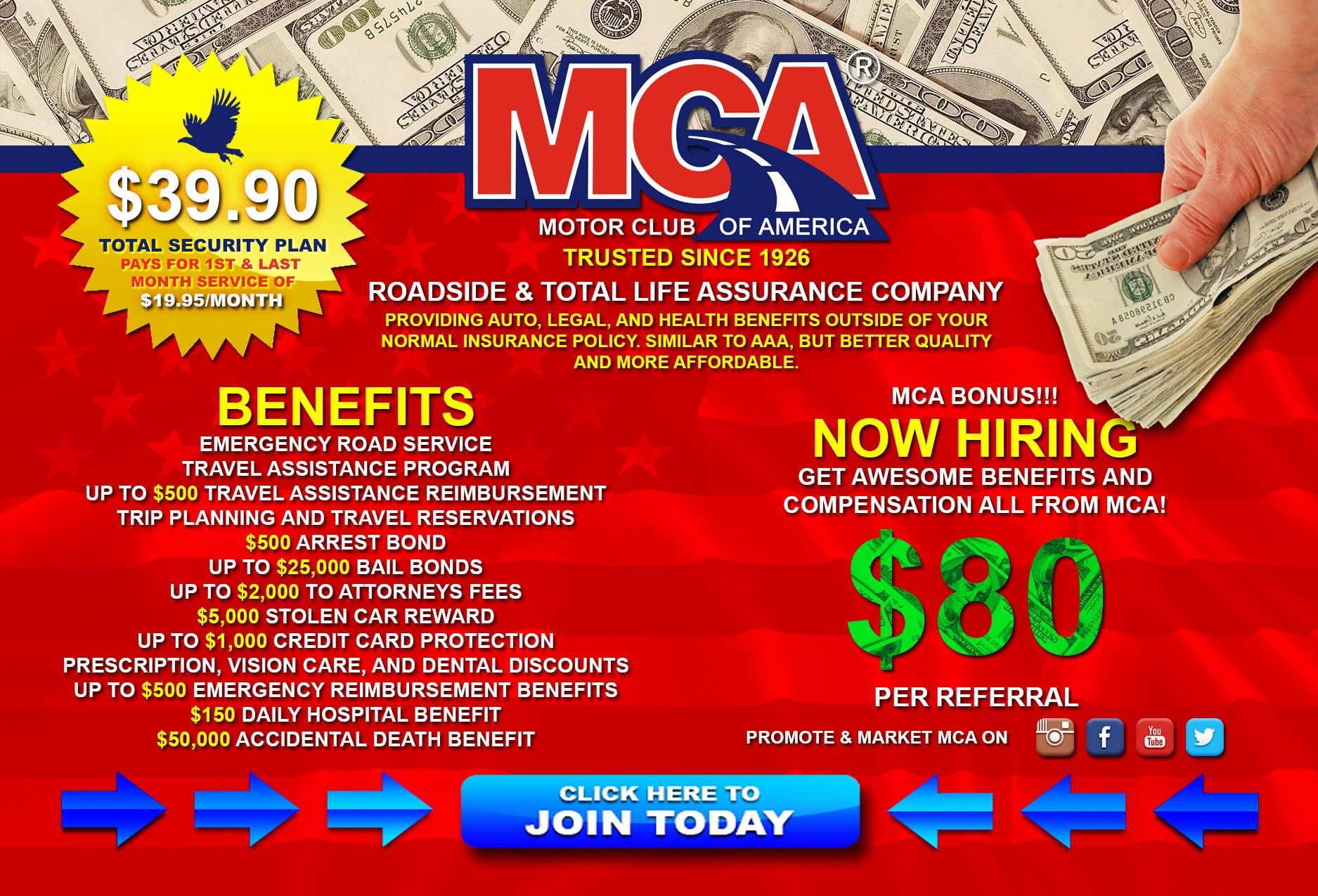 About mca motor club of americahas 24 7 roadside Motor club of america careers