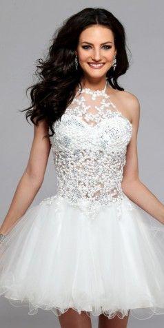 Short Prom Dress with Diamonds