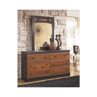 Aimwell Brown And Black Dresser Dresser Signature Design By