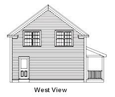 24x36 Post & Beam House with a nice open floor plan