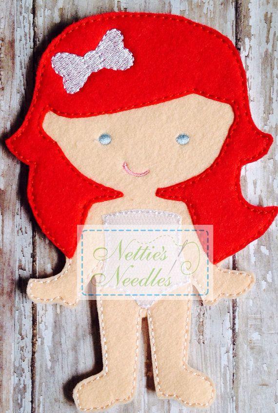 Maryjane Felt Doll by NettiesNeedlesToo on Etsy, $7.00