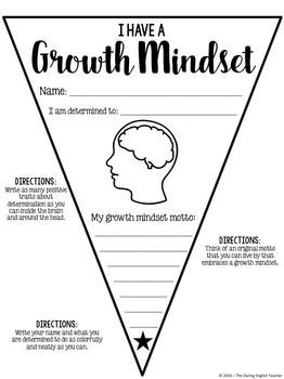 Growth Mindset Pennant Banner Middle School Freebies Growth