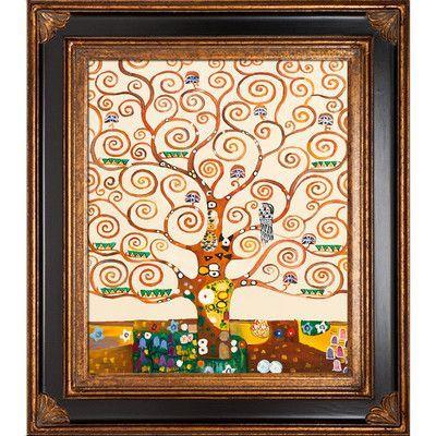 Tori Home Tree of Life by Gustav Klimt Framed Original Painting