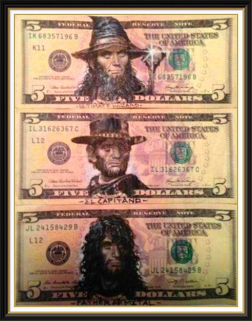 The Funniest Highly Illegal Defaced $5 Bills Featuring ...