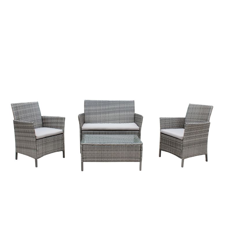 Find Mimosa 4 Piece Visby Wicker Lounge Setting at Bunnings Warehouse   Visit your local store for the widest range of outdoor living products. Mimosa  Visby  4pc Alum Wicker Lounge Setting I N 3191691
