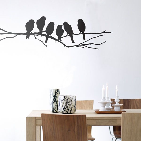 Ferm living wall stickers love birds sticker funny for cat and bird lovers digsdigs