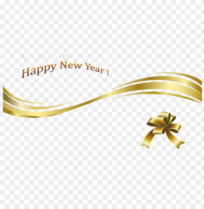 Happy New Year Gold Text And Decoration Png Image With Transparent Background Png Free Png Images Gold Text Happy New Year Happy New